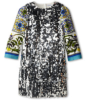 Dolce & Gabbana Kids - Graphic Print Sequin Shift Dress (Big Kids)