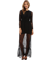 BCBGeneration - Long-Sleeve Round Maxi Cocktail Dress