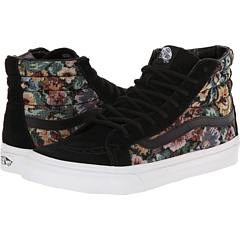 SK8-Hi Slim ((Tapestry Floral) Black) Skate Shoes