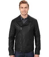 Kenneth Cole Reaction - Asymmetrical Zip Front Faux Leather Hipster