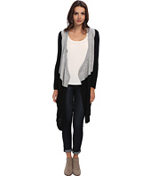 Christin Michaels - Colorblock Long Cardigan with Collar