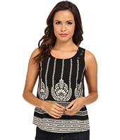 Christin Michaels - Damask Dot Sleeveless Top