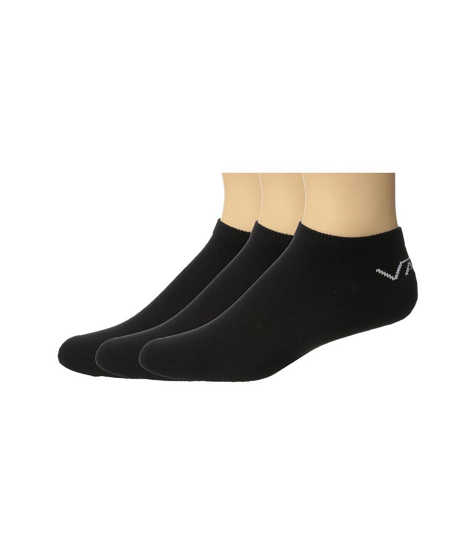 Vans - Classic Low 3-Pair Pack (Black) Men's No Show Socks Shoes