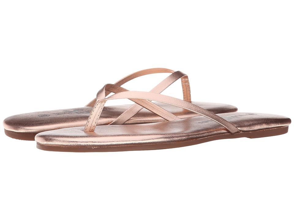 Yosi Samra - Roee Metallic Leather Flip Flop (Rosegold) Womens Sandals