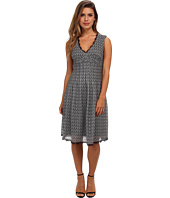 Adrianna Papell - Deco Knit Crochet Lace Flare Dress