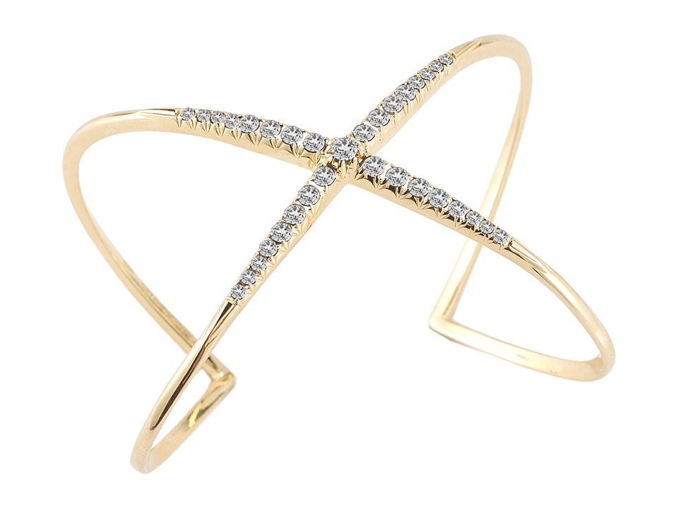 Elizabeth and James - Windrose Pave Cuff (White Topaz) Bracelet