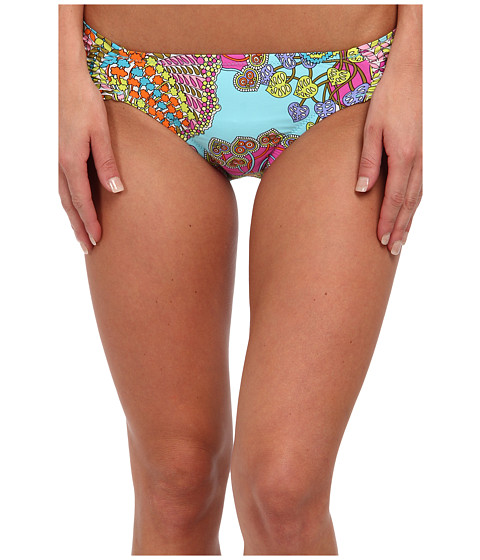 Trina Turk - Coral Reef Shirred Side Hipster (Multi) - Apparel