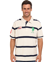 U.S. POLO ASSN. - Stripe Short Sleeve Pique Polo with Big Pony Logo