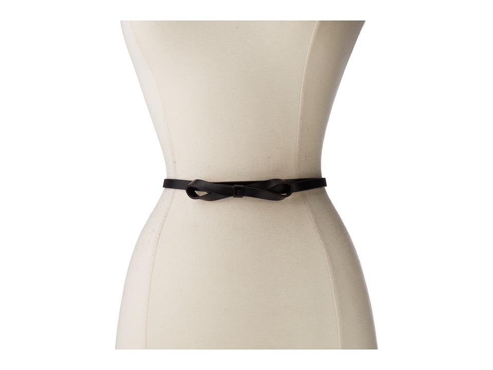 Lodis Accessories Audrey Skinny Bow High Waist Belt (Black) Women