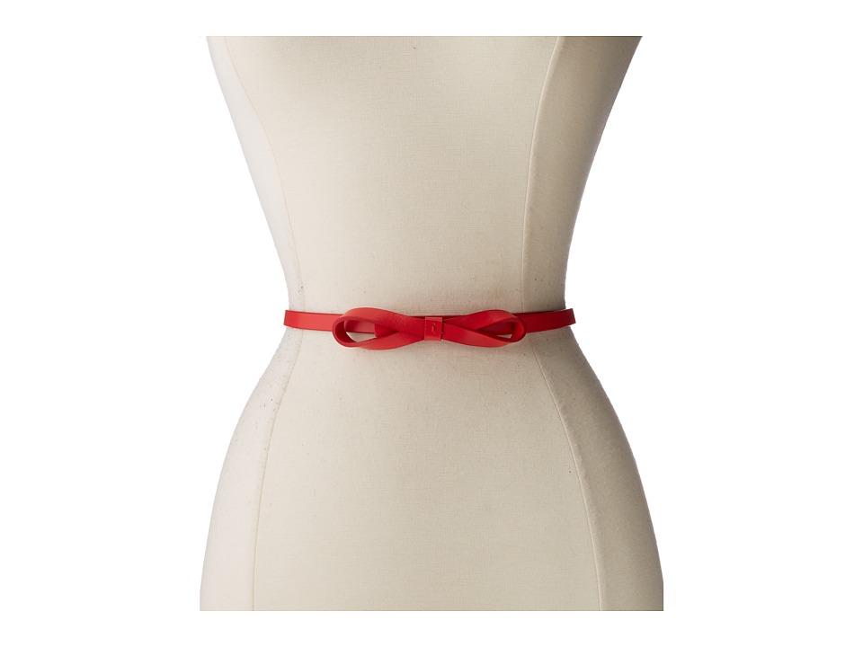 Lodis Accessories Audrey Skinny Bow High Waist Belt (Red) Women