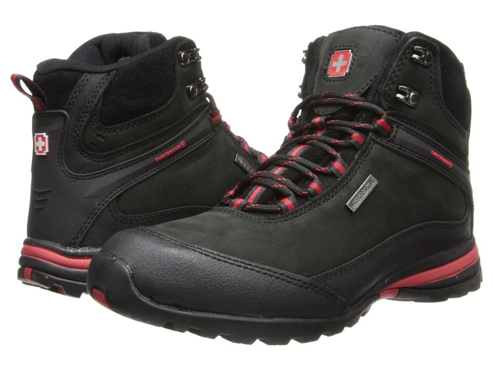 SWISSBRAND Nendaz Black Mens Boots