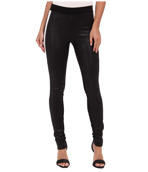 these hale bob striped faux suede leggings stretch leggings are coated