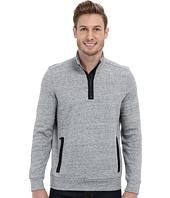 Kenneth Cole Sportswear - Long Sleeve Zip Mock Neck Pullover