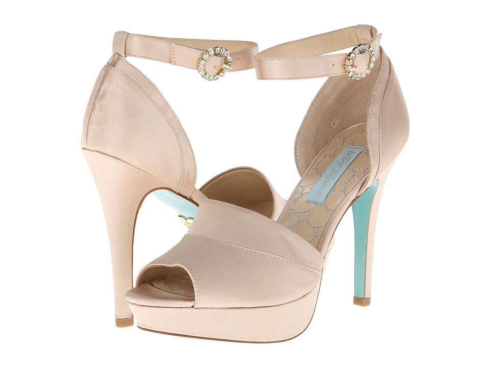 Blue by Betsey Johnson Silk (Champagne Satin) High Heels
