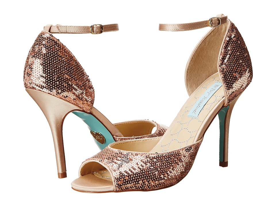 Blue by Betsey Johnson Wed (Champagne Sequins) High Heels