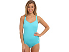 TYR - Solid Halter Controlfit Swimsuit (Blue) - Apparel<br />