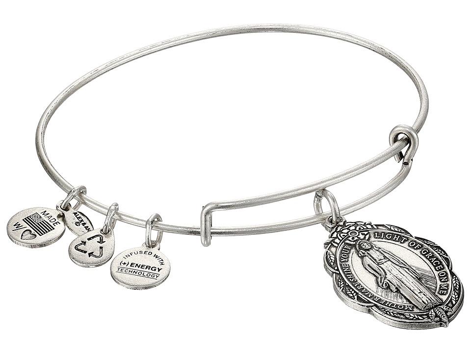 Alex and Ani - Mother Mary Charm Bangle II (Rafaelian Silver Finish) Charms Bracelet