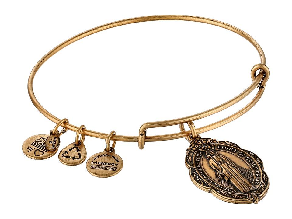 Alex and Ani - Mother Mary Charm Bangle II (Rafaelian Gold Finish) Charms Bracelet
