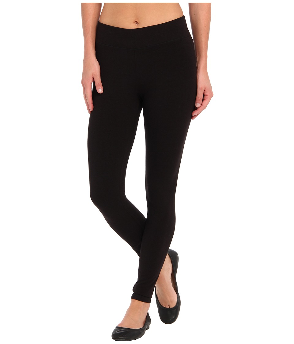 HUE - Ultra Leggings w/ Wide Waistband (Black) Womens Clothing