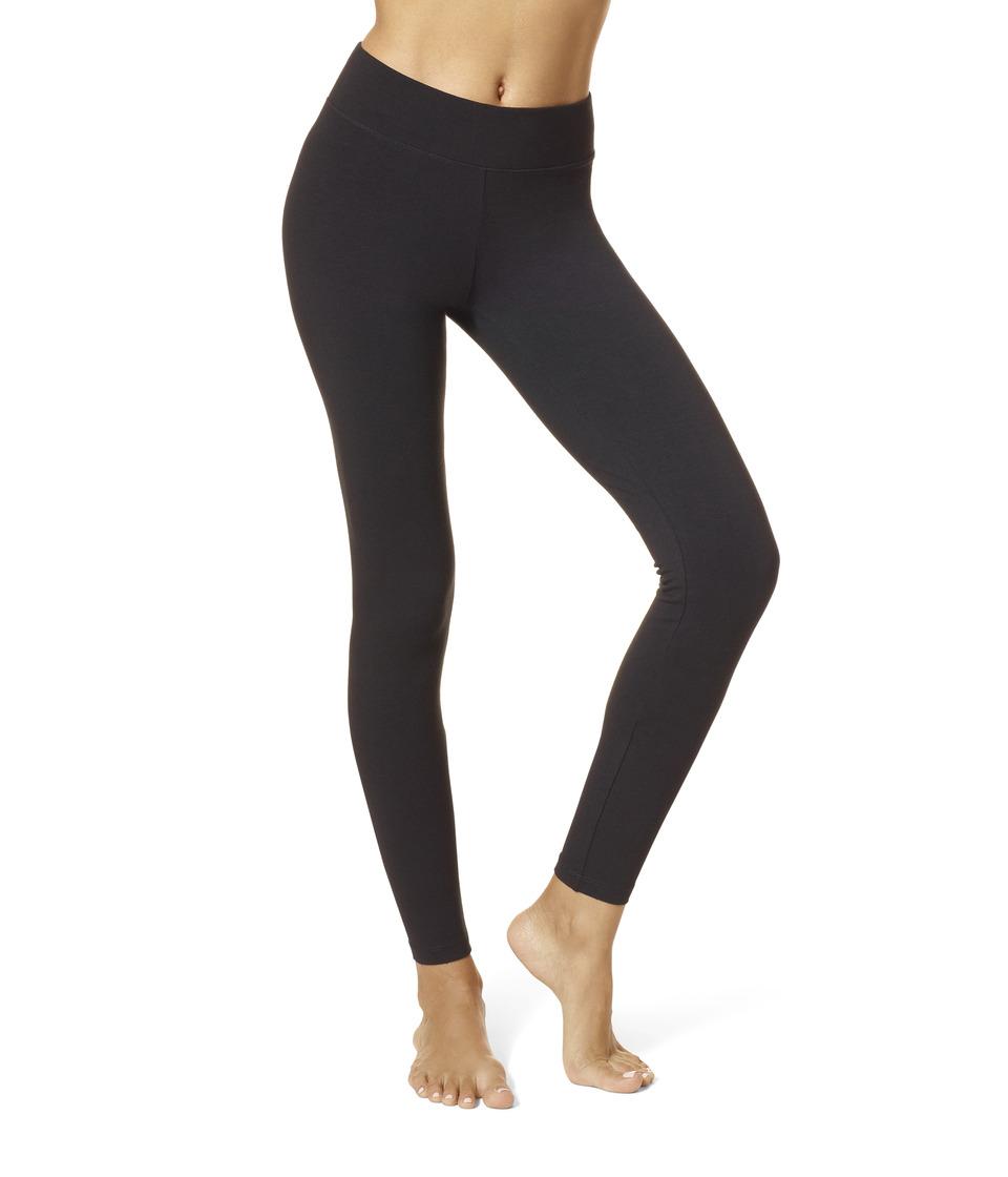 HUE Ultra Leggings w/ Wide Waistband (Black) Women