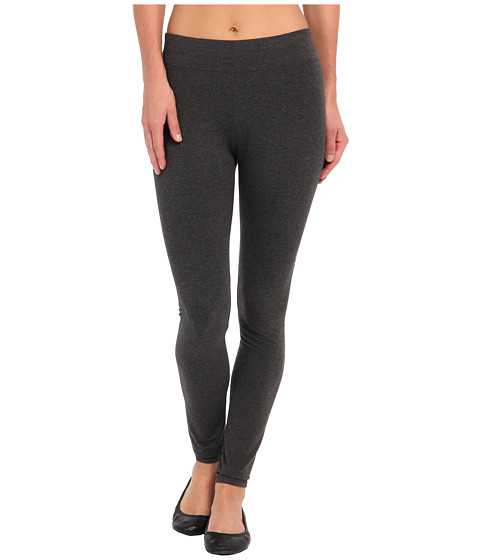 HUE Ultra Leggings w/ Wide Waistband - Graphite Heather