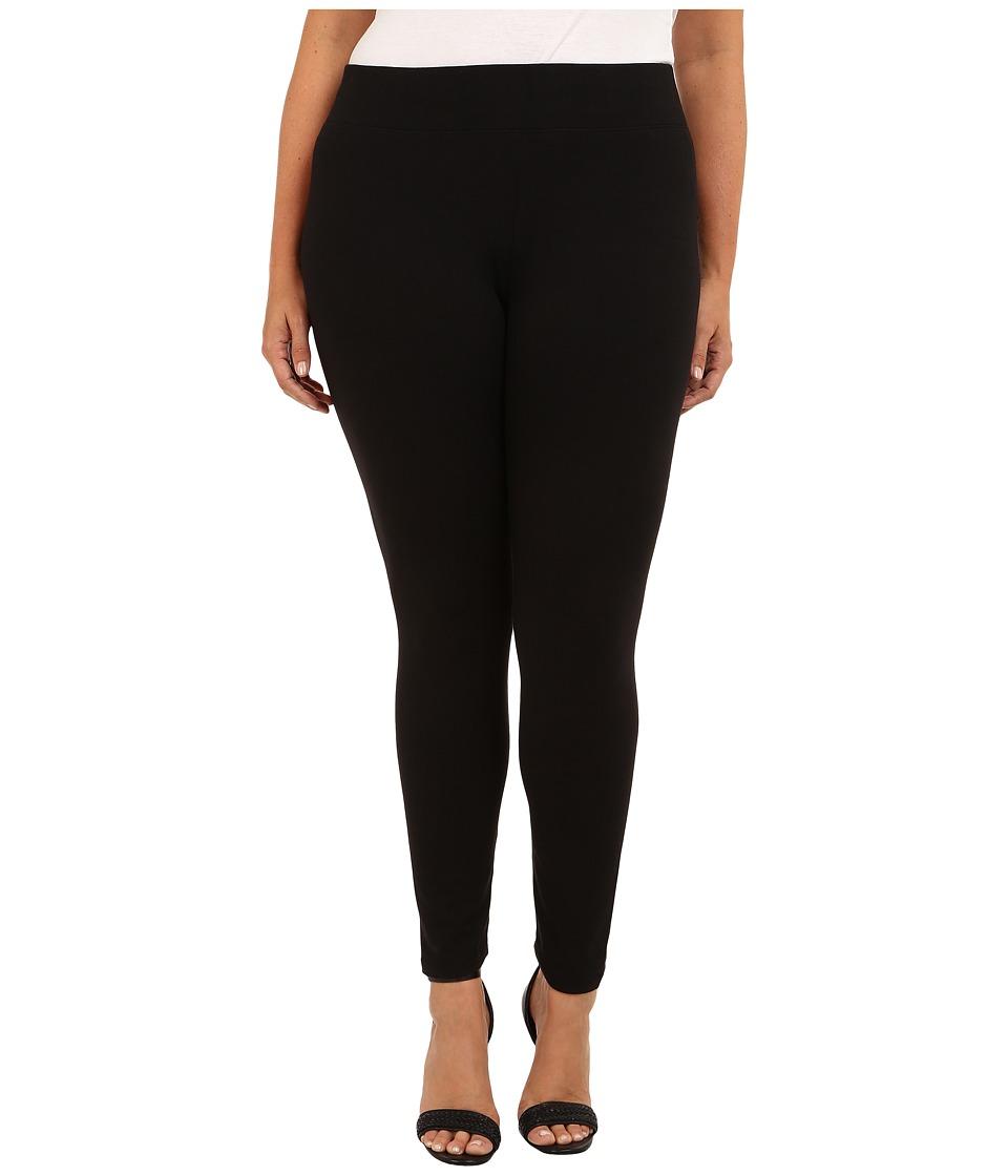 HUE Plus Ultra Leggings w/ Wide Waistband (Black) Women