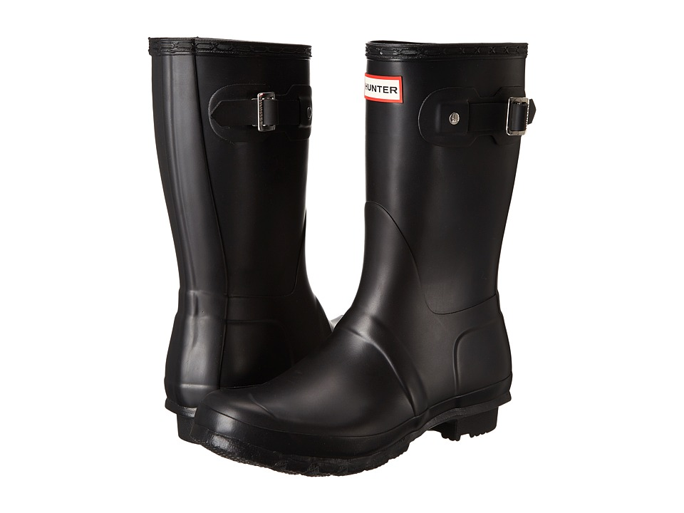 Hunter Original Short Rain Boots (Black Matte) Women
