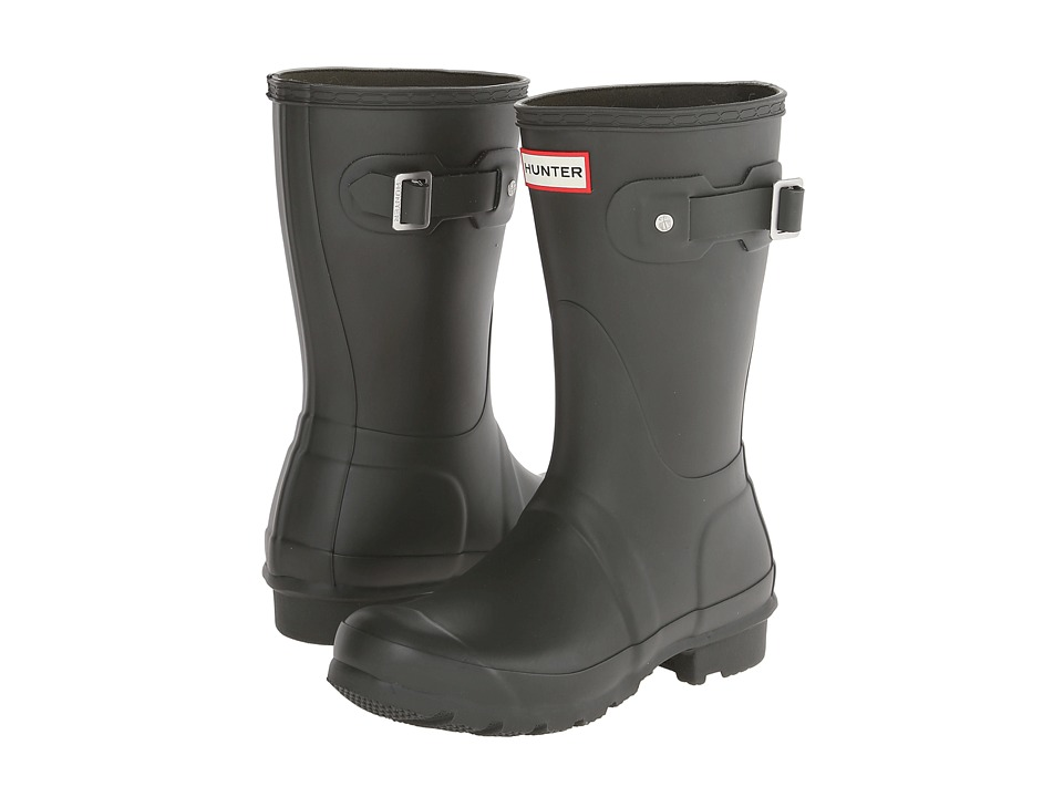 Hunter Original Short Rain Boots (Dark Olive) Women
