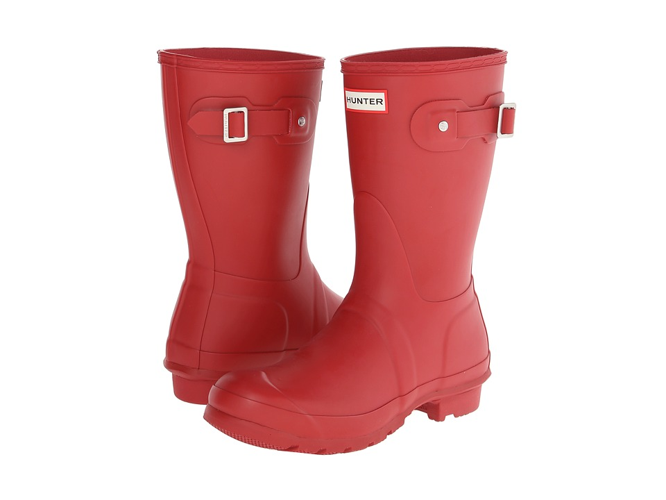 Hunter Original Short (Military Red) Women's Rain Boots