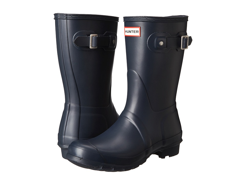 Hunter Original Short Rain Boots (Navy Matte) Women