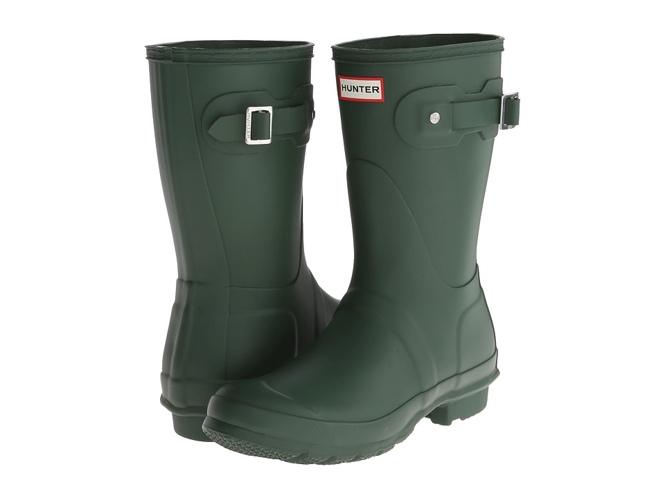 Hunter Original Short Rain Boots (Hunter Green) Women