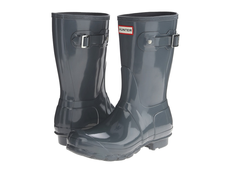 Hunter Original Short Gloss (Graphite Gloss) Women's Rain Boots