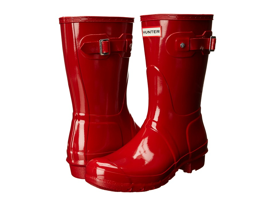 Hunter Original Short Gloss Rain Boots (Military Red) Women