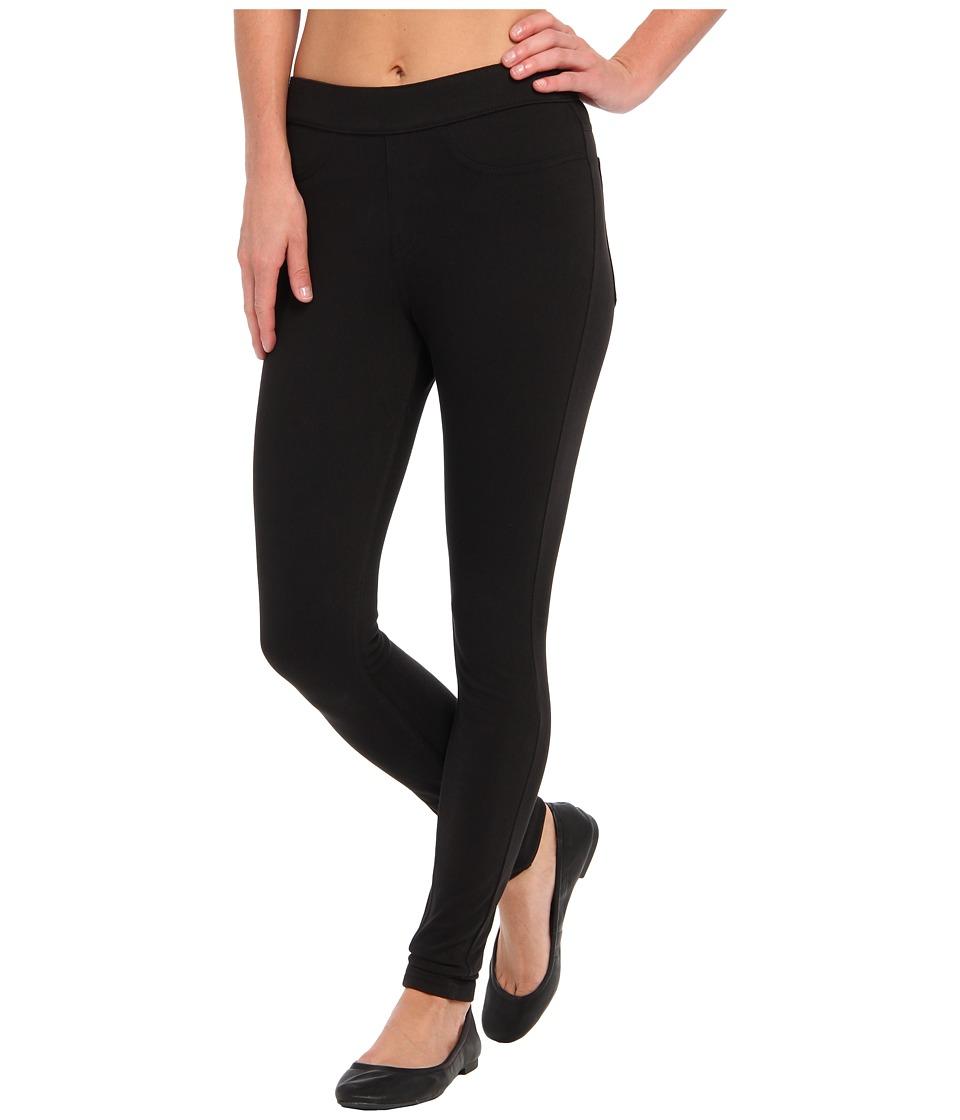 HUE Curvy Fit Jeans Leggings (Black) Women