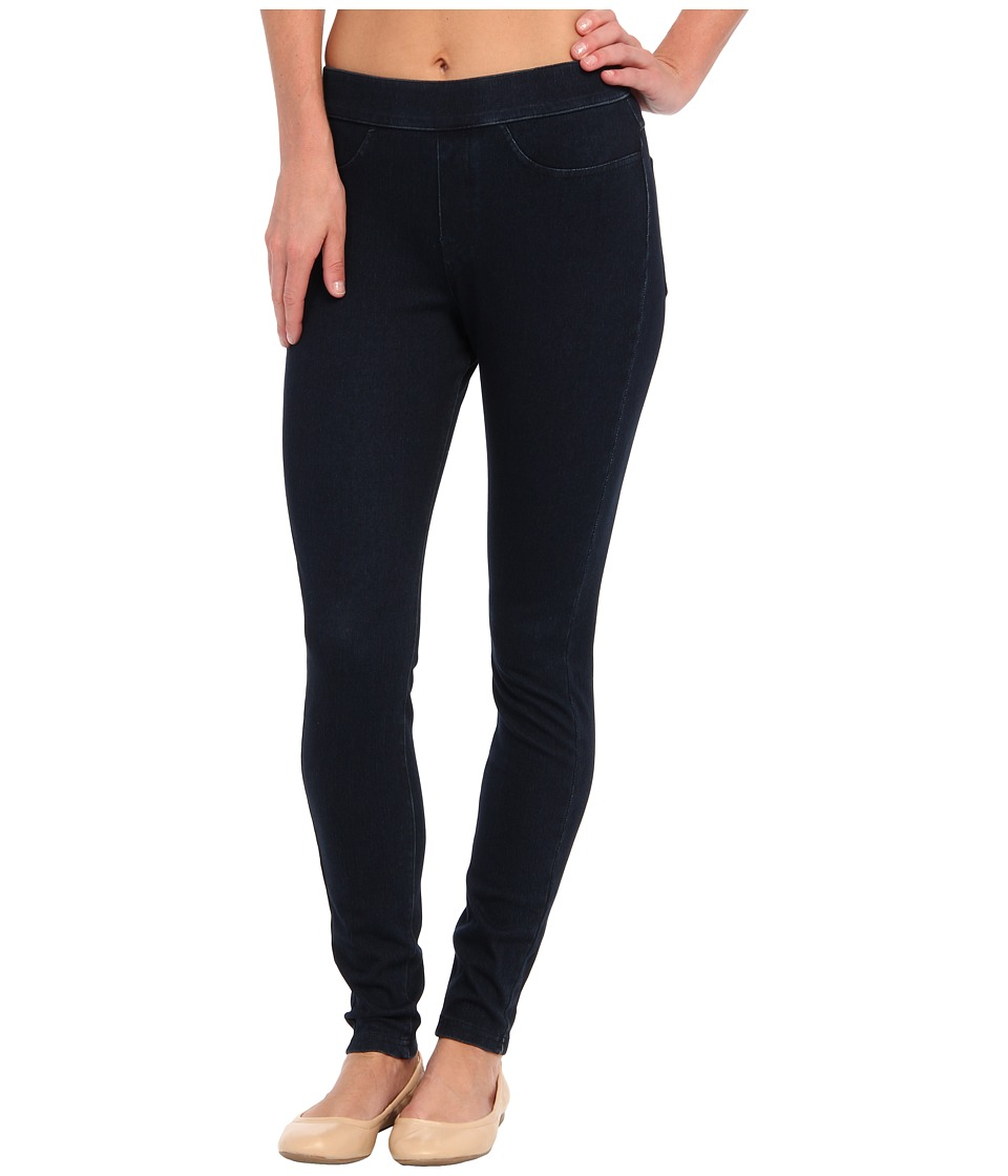 HUE Curvy Fit Jeans Leggings (Midnight Rinse) Women's Clo...