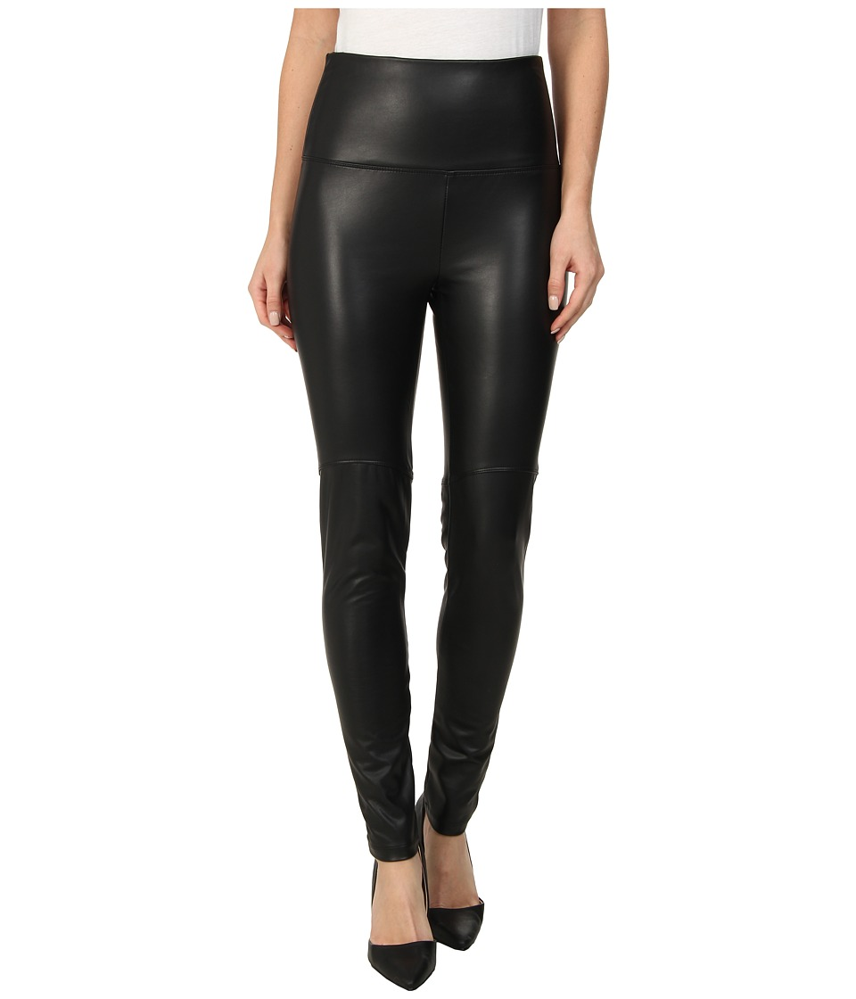 Lysse - Faux Leather Shaping Legging (Black) Womens Casual Pants