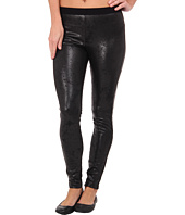 HUE - Distressed Leatherette Leggings