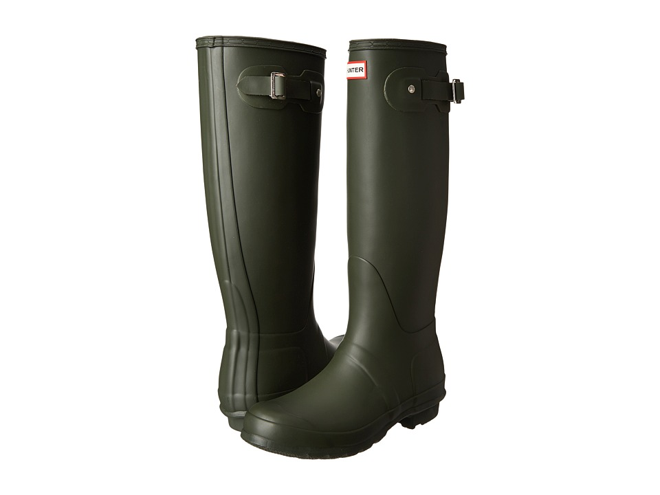 Hunter Original Tall Rain Boots (Dark Olive) Women
