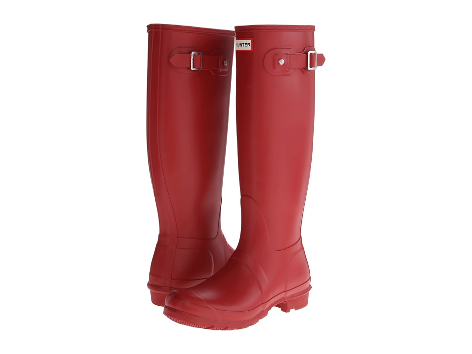 Hunter Original Tall Rain Boots (Military Red) Women
