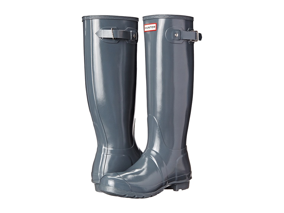 Hunter Original Gloss (Graphite Gloss) Women's Rain Boots