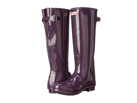 And just in case there's inclement weather Tall Gloss Rain Boot in Bright Plum via Hunter.com