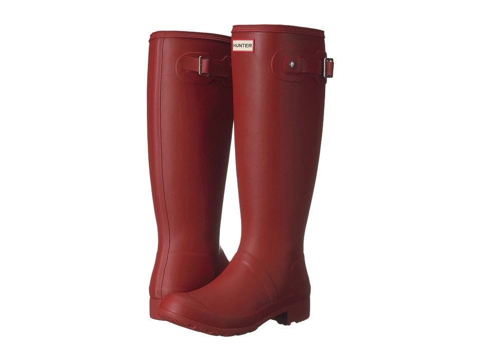 Hunter - Original Tour Packable Rain Boot (Military Red) Womens Rain Boots