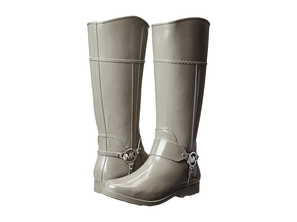 Shop MICHAEL Michael Kors online and buy MICHAEL Michael Kors Fulton Harness Tall Rainboot Pearl Grey Rubber Women's Pull-on Boots shoes online