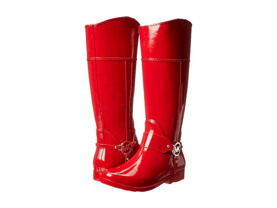 MICHAEL Michael Kors Fulton Harness Tall Rainboot (Red Rubber) Women's Pull-on Boots