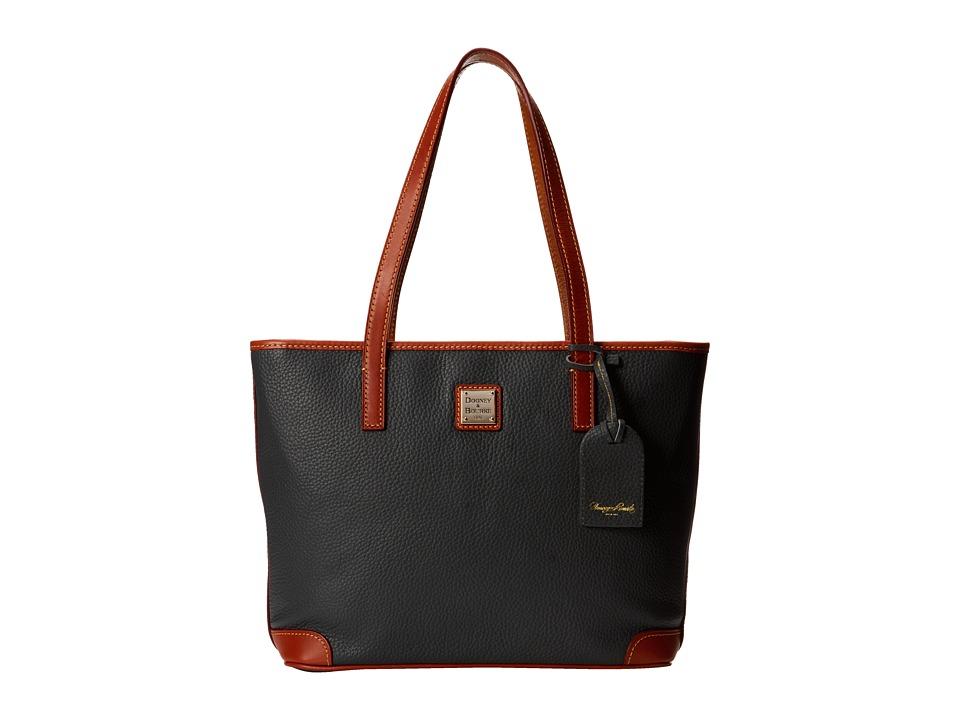 Dooney amp Bourke Pebble Leather New Colors Charleston Shopper Dark Grey w/ Tan Trim Tote Handbags