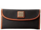 Dooney & Bourke Pebble Leather New SLGS Continental Clutch