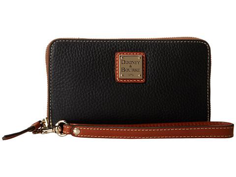 Dooney & Bourke Pebble Leather New SLGS Zip Around Credit Card Phone Wristlet
