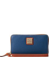 Dooney & Bourke - Pebble Leather New SLGS Zip Around Credit Card Phone Wristlet