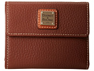 Dooney & Bourke Pebble Leather New SLGS Small Flap Credit Card Wallet
