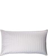 Royal Luxe - Damask Stripe White Down King Pillow